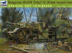 Hungarian 40/43M Zrinyi II 105mm Assault Gun