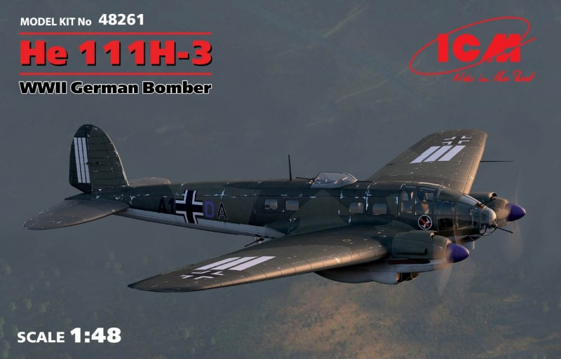 He 111H-3 WWII German Bomber