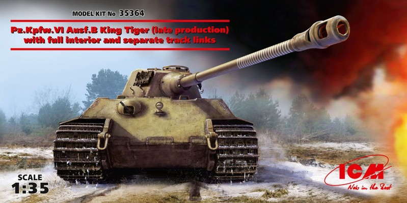 Pz.Kpfw.VI Ausf.B King Tiger (late production) with full interior, WWII German Heavy Tank