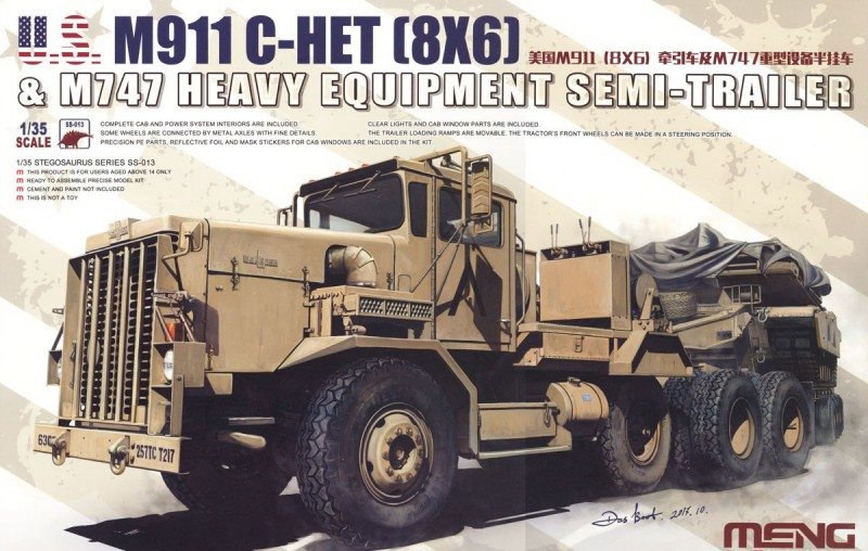 U.S. M911 C-HET(8x6)& M747 Heavy Equipmet Semi-Trailer