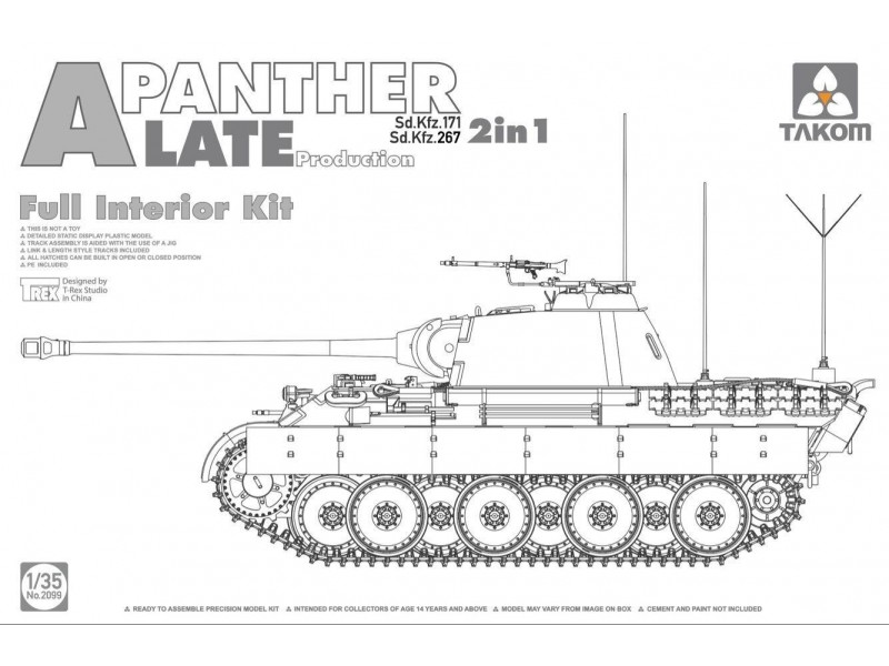 Panther Ausf. A late prod. (full interior)