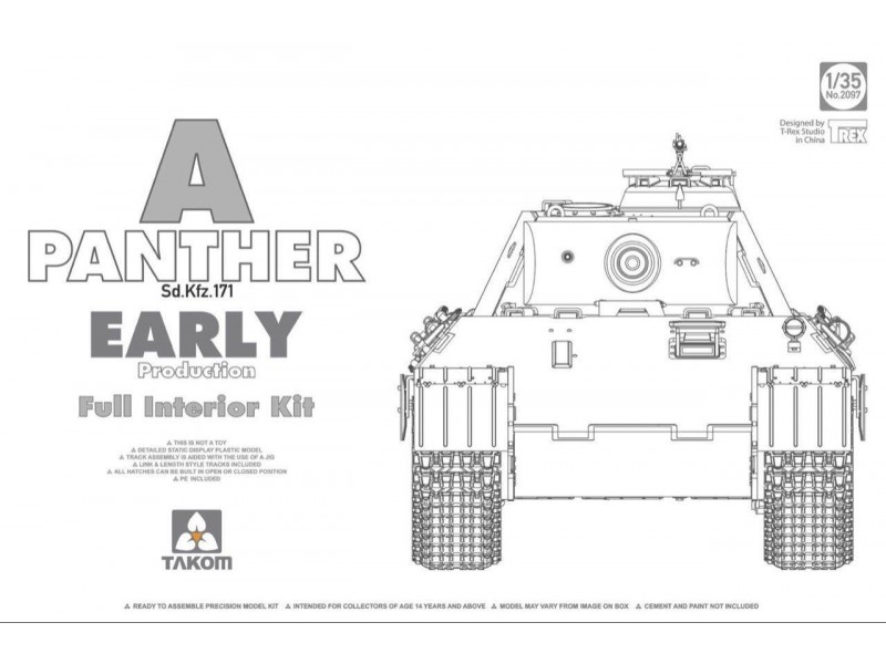 Panther Ausf. A early prod. (full interior)