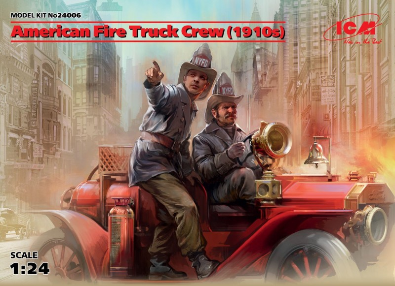 American Fire Truck Crew 1910 ( 2 fig)