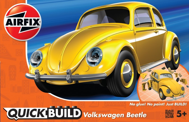 VW Beetle - žltá Quick Build
