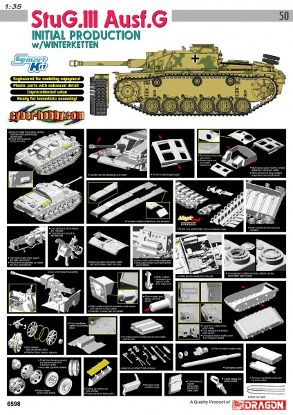 StuG.III Ausf.G INITIAL PRODUCTION w/WINTERKETTEN (SMART KIT)
