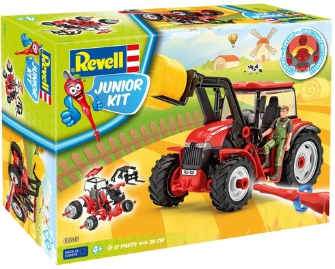 Tractor with loader incl. figure