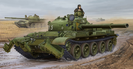 Russian T-62 Mod.1975 (With KMT-6 Mine Plow)