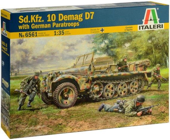 Sd. Kfz. 10 Demag D7 with German Paratroops