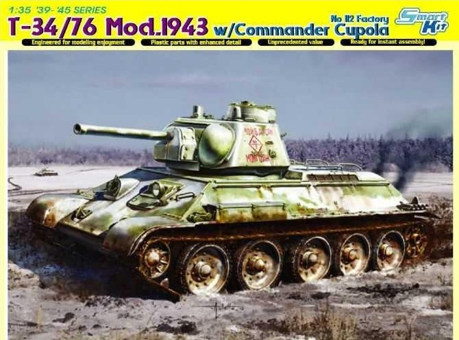 T-34/76 MOD. 1943 w/COMMANDER CUPOLA NO. 112 FACTORY