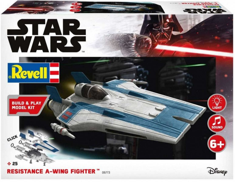 Resistance A-wing Fighter, blue